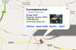 Cunninghams Auto location